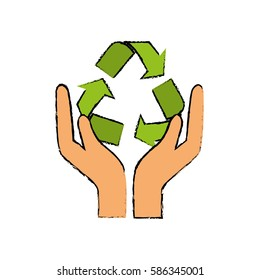 Go green ecology icon vector illustration. graphic design