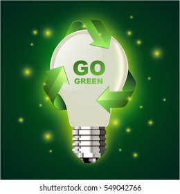 Go green lightbulb