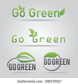 Go green logo vector illustration.