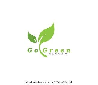 Go green logos and symbol