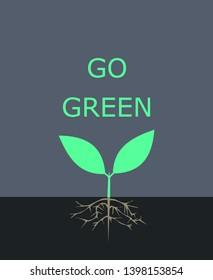 go green. plant poster vector art inkscape