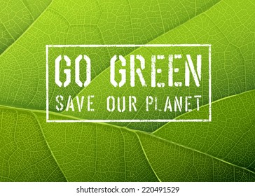 Go Green Poster, Vector