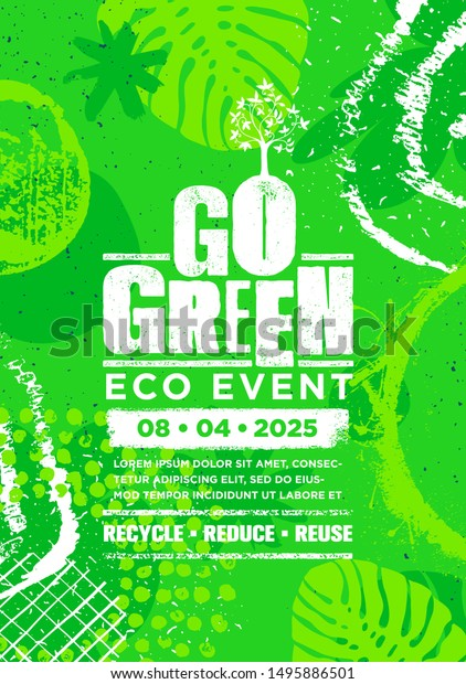 Go Green Sustainable Eco Craft Poster Stock Vector Royalty Free 1495886501