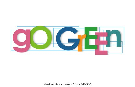 Go green vector letters