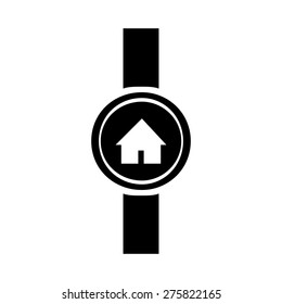 Go to home icon on smart watch. vector illustration