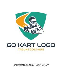 Go Kart Logo Illustration