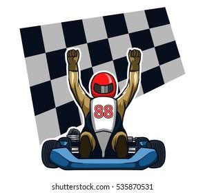Go kart Winning Racer