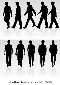 go man - vector silhouette