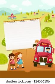 Go to school, school bus