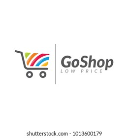 go shop bag shopping logo icon vector template