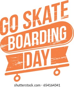 Go Skateboarding Day Vector Illustration. Suitable for poster, banner, campaign, and greeting card