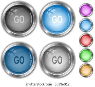 Go. Vector internet buttons.