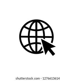 go to web icon symbol vector. Mail Icon Symbols vector. symbol for web site Computer and mobile vector.