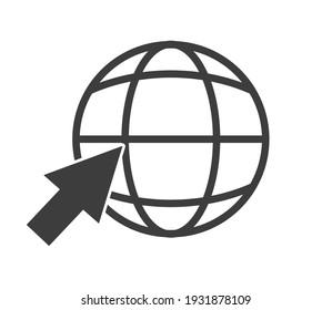 Go to web icon symbol. Website icon symbol illustration on white background