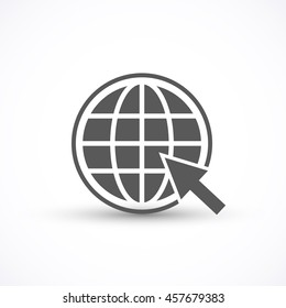 Go to web icon vector isolated on white background for your design, website, logo, application, UI