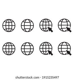 Go to web symbol icon