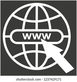 go to web . vector icon