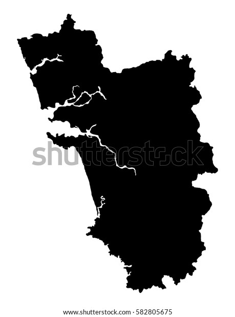 Goa map vector outline