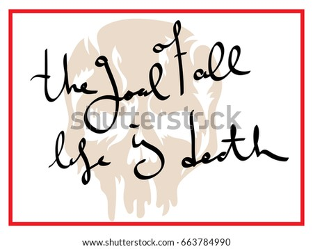 Goal All Life Death Stylized Image Stock Vector Royalty Free