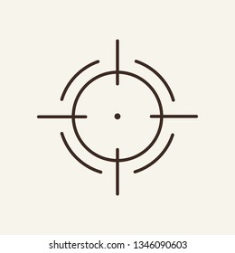 Goal line icon. Aim, target, circle, crosshair. Strategy concept. Vector illustration can be used for topics like focus, mission, head hunting