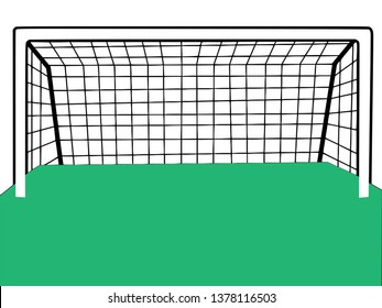 Goal post football vector