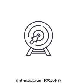 Goal pursuiting linear icon concept. Goal pursuiting line vector sign, symbol, illustration.