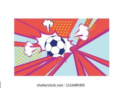 Goal sign and football ball.