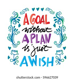 : A Goal Without A Plan Is Just A Wish Concept