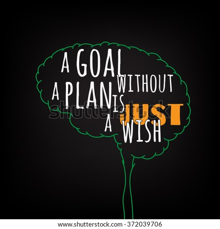 A Goal Without Plan Is Just Wish Motivation Clever Ideas In The Brain Poster
