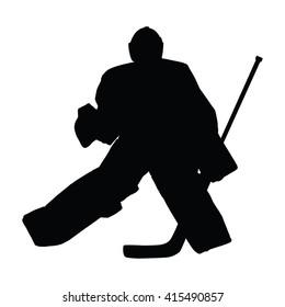 Hockey Goalie Silhouette Images Stock Photos Vectors Shutterstock