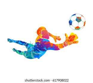 goalkeeper, ball Abstract