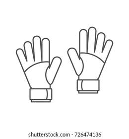 Goalkeeper gloves icon. Outline illustration of Goalkeeper gloves vector icon for web isolated on white background