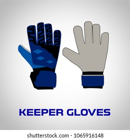 Goalkeeper Gloves Vector