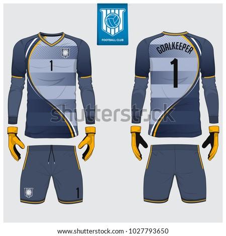 1289f56fe Goalkeeper Jersey Soccer Kit Long Sleeve Stock Vector (Royalty Free ...