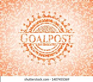 Goalpost abstract orange mosaic emblem