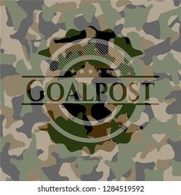 Goalpost camouflaged emblem