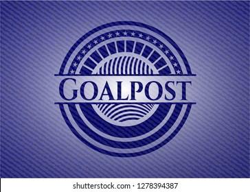 Goalpost with denim texture