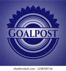 Goalpost emblem with jean high quality background