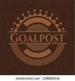 Goalpost retro wooden emblem