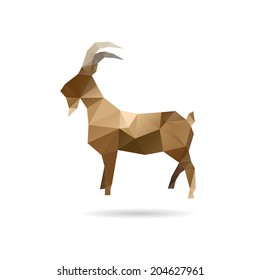 Goat abstract isolated on a white backgrounds, vector illustration