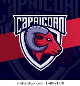 goat capricorn mascot esport logo design