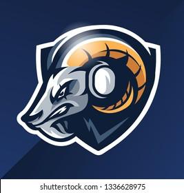 Goat Esport Mascot Logo