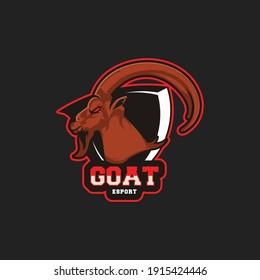 goat Esport mascot logo template Vector