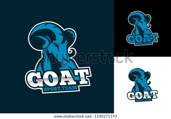 Goat Esport Team Logo Template Design Stock Vector (Royalty
