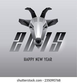 Goat Face Vector Illustration