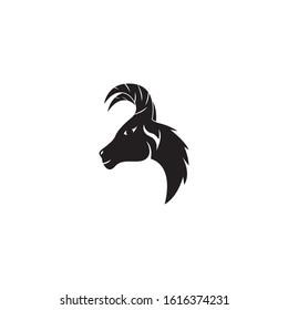 Goat head logo vector illustration