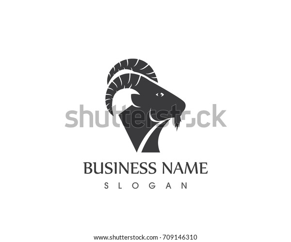 Goat Head Silhouette Logo Template Stock Vector (Royalty Free) 709146310