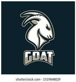goat head sport logo design vector, e-sport style logo