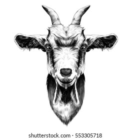 Goat Head Drawing Images, Stock Photos & Vectors | Shutterstock
