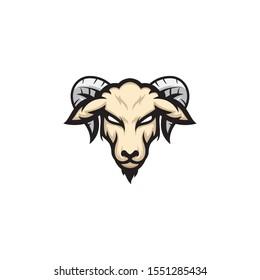 goat head vector illustration logo template silhouette